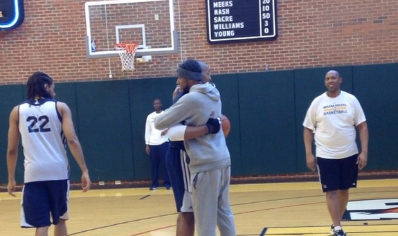 Danny Granger Says Goodbye to His Indiana Teammates