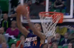 Gerald Green Double-Clutch Reverse Dunk