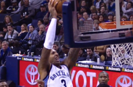 James Johnson Throws a Self Lob Off the Glass for the Slam