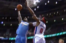 JJ Hickson Flies Over Andre Drummond
