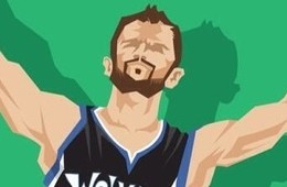 Kevin Love 'Triple-Double' Caricature Art