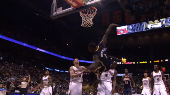 Lance Stephenson Makes a Circus Shot and Defies Death