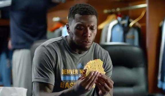 Nate Robinson Taco Bell XXL Steak Crispy Taco Commercial