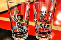 Blazers Giving Fans a Robin Lopez Collectable Glass Tonight