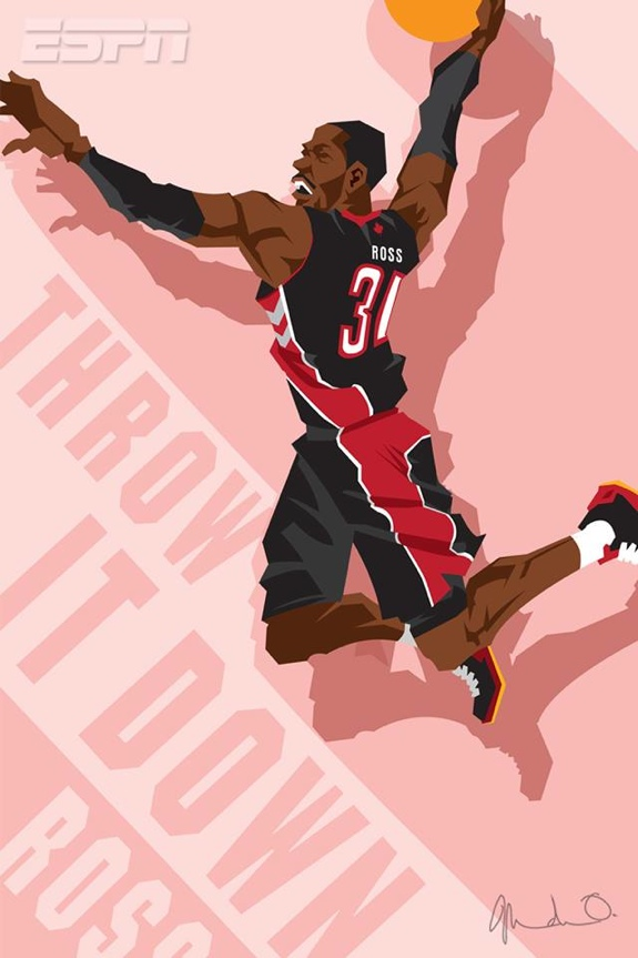 Slam Dunk Contestants 'Throw It Down' Caricature Art