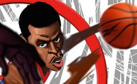 Allen Iverson Hitting Michael Jordan With the Crossover Art