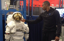 Dwight Howard Pays a Visits to NASA
