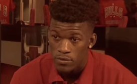 Jimmy Butler Takes 50/50 Raffles Very Seriously