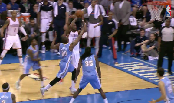 Kevin Durant Hits Darrell Arthur With the Double Cross