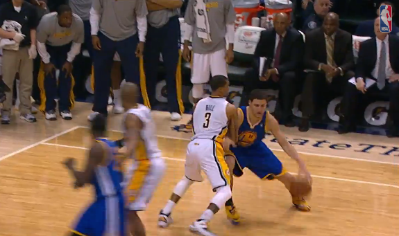 Klay Thompson Sinks the Pacers