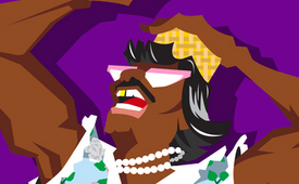 Larry Johnson 'Grandmama' Caricature Art
