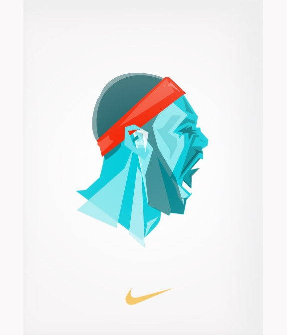 NBA Superstar Cubistic Style Ilustrations