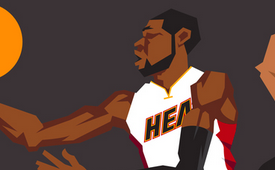 Miami Heat 'The Champs' Caricature Art