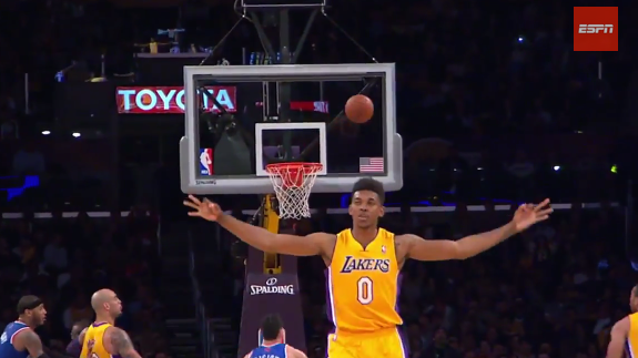 Nick Young Celebrates a Shot Way Too Soon