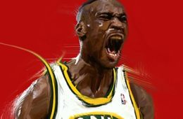Shawn Kemp 'Reign Man' Digital Painting