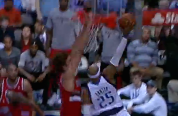 Vince Carter Dunks On Robin Lopez