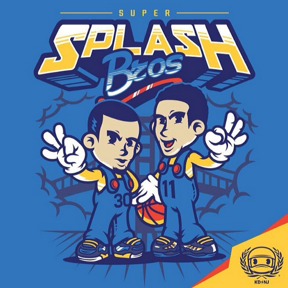 Warriors 'Super Splash Bros.' Art