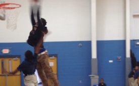 Ben McLemore Dunks All Over An Elementary School Kid