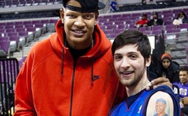 Charlie Villanueva Meets Fan With His Likeness Tattooed On His Arms