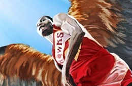 Dominique Wilkins 'Hawk' Painting