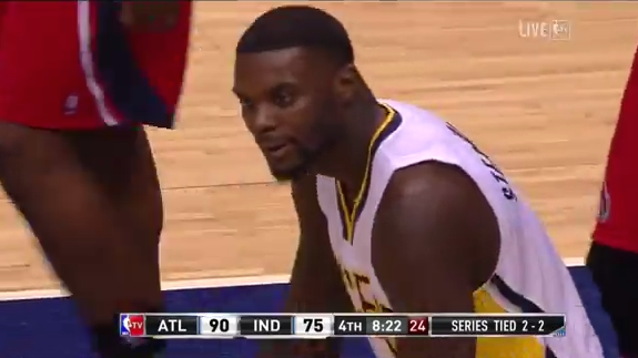 Somehow Lance Stephenson Wedgies a Dunk