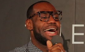 LeBron James Spits Over a Jay Z Track