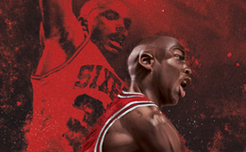 Michael Jordan 'Flipshot' Drawing