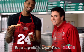 Paul George Papa John's Pizza Commercial