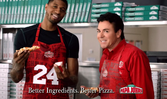 Paul George Papa John s Pizza Commercial – Hooped Up 60bb7a14169c