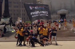 The 2014 NBA Playoffs 'Flash Mob' Edition
