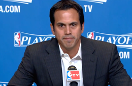 Erik Spoelstra Holds Questionless Pregame Press Conference
