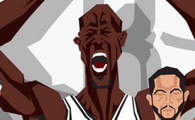 Brooklyn Nets 'NBA Champions' Caricature Art