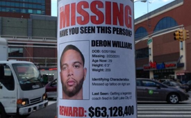 Deron Williams 'Missing Poster' Outside the Barclays Center