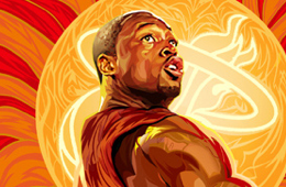 Dwyane Wade 'Red Hot' Illustration