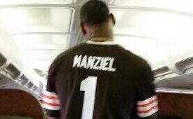 LeBron James Copped a Johnny Manziel Browns Jersey