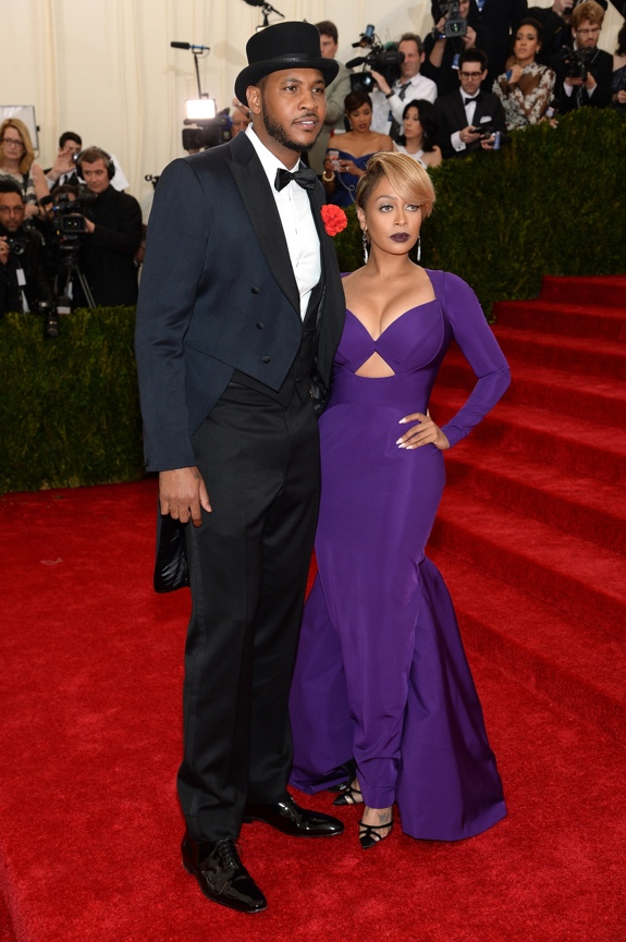 Carmelo Anthony and Wife Lala at the Met Gala