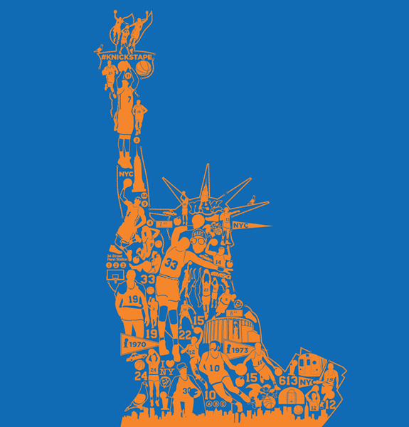 New York Knicks 'Statue of Liberty' Design