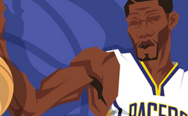Indiana Pacers 'NBA Champions' Caricature Art