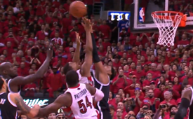 Paul Pierce Blocks Kyle Lowry to Save the Series