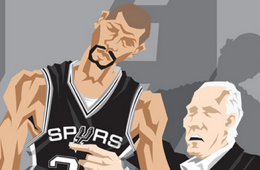 San Antonio Spurs 'NBA Champions' Caricature Art