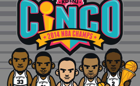 Spurs 'Cinco' Art