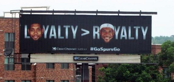 Loyalty Greater Than Royalty Spurs Billboard
