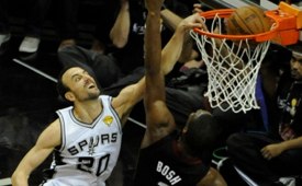 Manu Ginobili Dunks On Chris Bosh