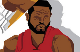 Miami Heat 'Big Three' Caricature Art