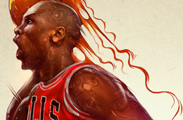 Michael Jordan 'ICONS' Illustration