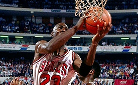 23 Years Ago Today, Michael Jordan Switched Hands For a Layup