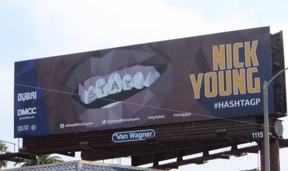 Someone Put Up a Nick Young 'Stay' Billboard