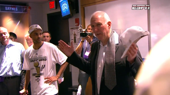 Gregg Popovich Delivers a Solid Postgame Speech