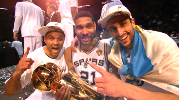 The Spurs' Big 3 Celebrate Another Title