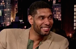 Tim Duncan Does Late Night With David Letterman